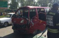 A taxi had T-boned a truck Germiston