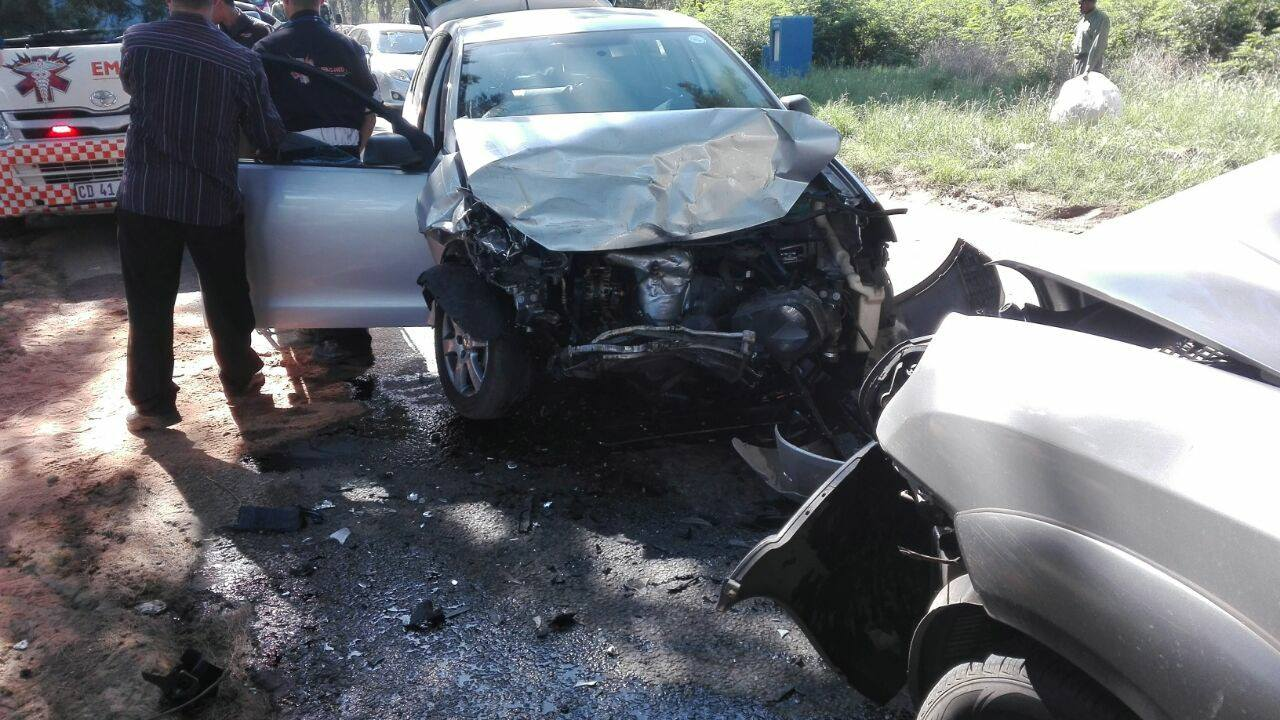 Head-on collision on Knights Road in Germiston.