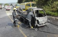 No injuries light delivery truck on fire KZN