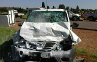 Head-on collision on Garsfontein Road, Pretoria.