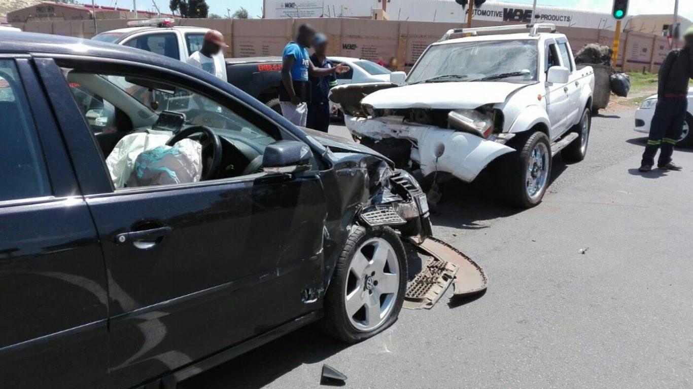 Two children and adult injured in Germiston collision