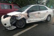 Collision between a taxi and a car on Barry Hertzog and Judith Roads, Emmerentia