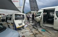 Photos from scene of taxi collision on the corners of Jan Smuts and Waterfall, Craighall Park.