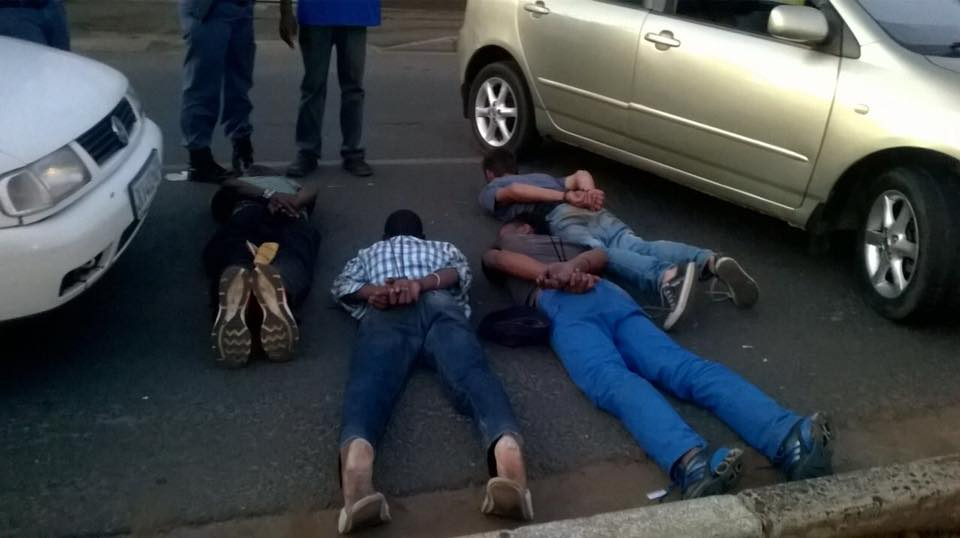 Four suspects arrested after armed robbery and attempted murder