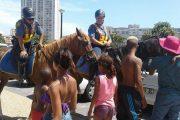SAPS mounted unit making friends on patrol