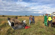 Female killed, 3 Injured in rollover approximately 50km north of Bloemfontein
