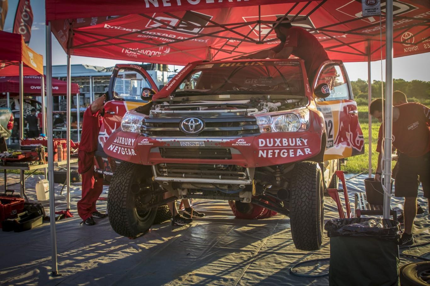 Disappointment for Toyota Gazoo Racing SA on Stage 3 of Dakar 2017