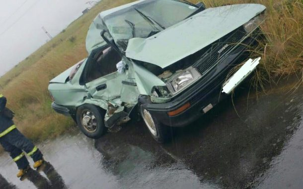 Fatal collision on the R26 between Frankfort & Vrede.