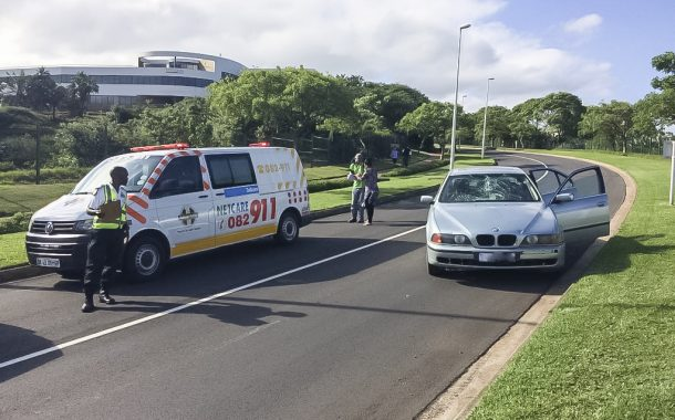 Umhlanga pedestrian crash leaves man fighting for his life