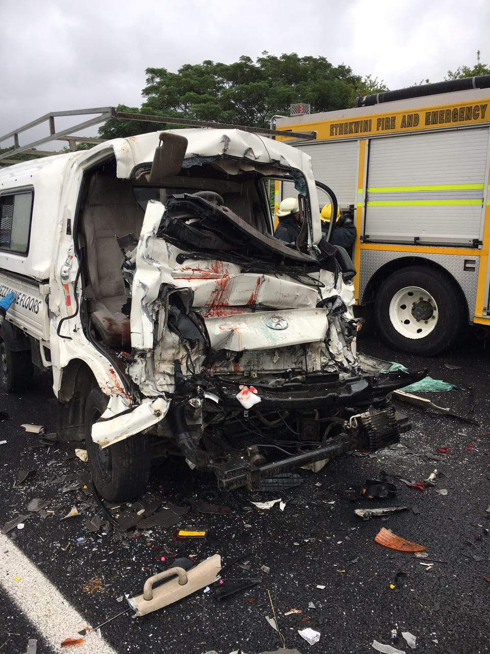 Serious collision on M19 just after the Dunkeld Road onramp
