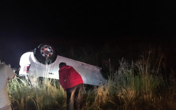 Two injured in rollover on the Maselspoort Road outside Bloemfontein