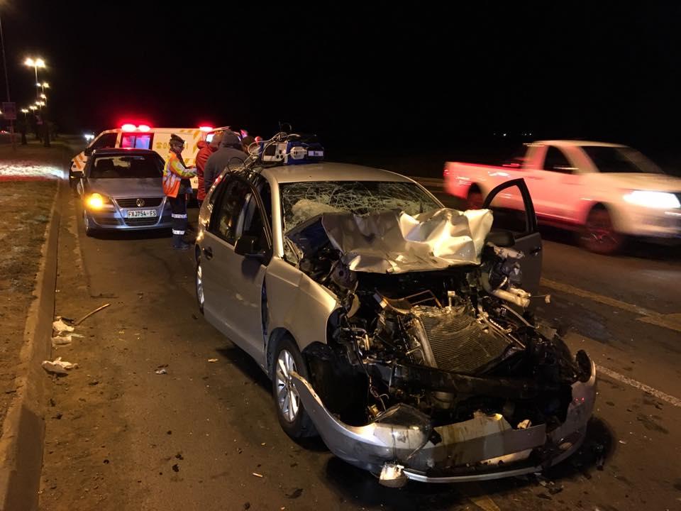 Two injured in collision on Nelson Mandela Drive, Bloemfontein