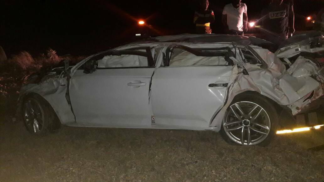 Fortunate escape from serious injury after rollover between Usakos and Arandis