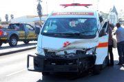 Fortunate escape from serious injury in ambulance collision in Swakopmund