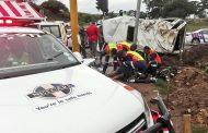 M13 Richmond Road taxi crash - 18 injured