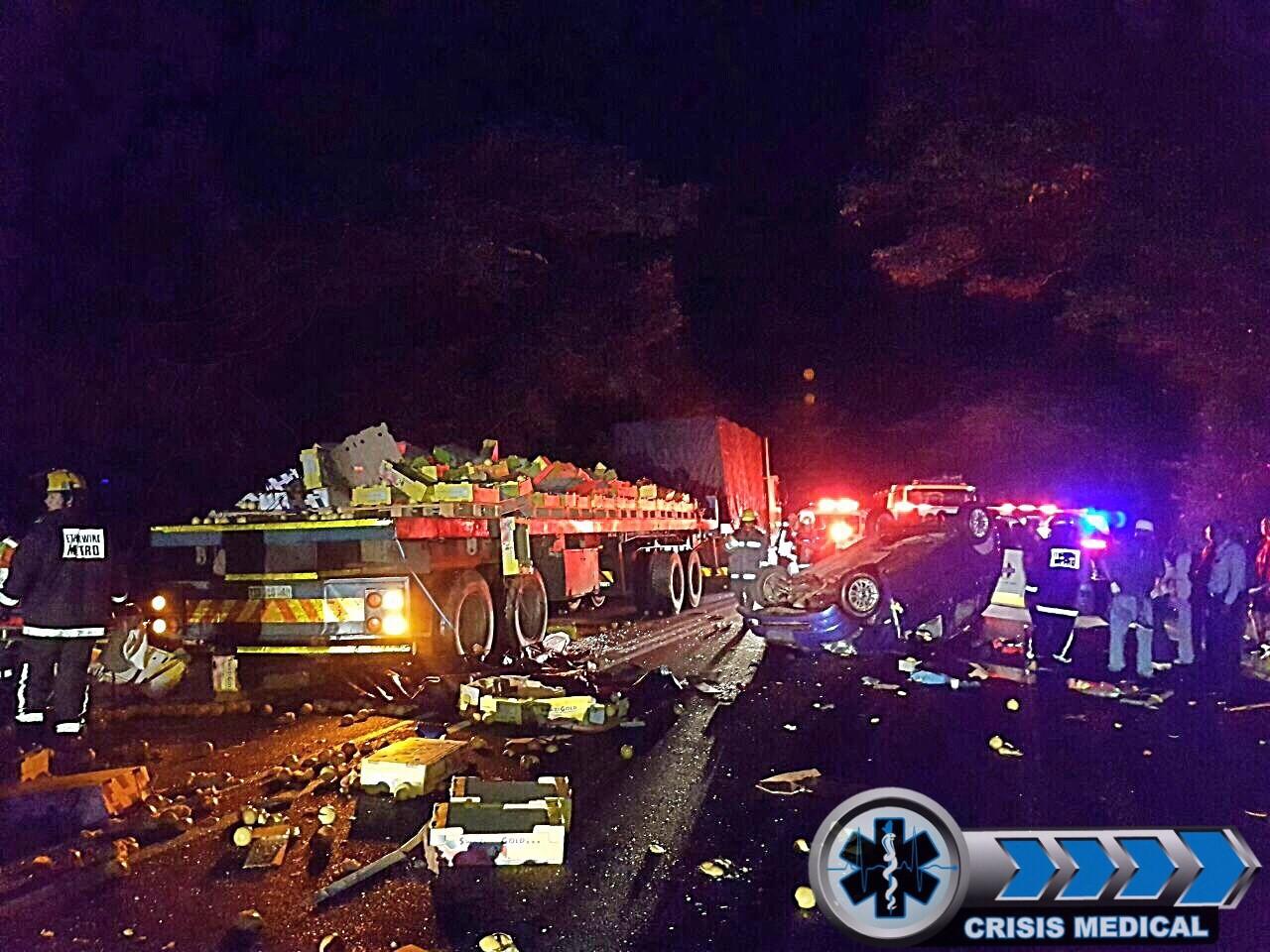 Serious motor vehicle collision on the M4 near Umdloti