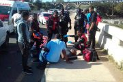 Bakkie Overturns While Towing Vehicle on the R102, Verulam