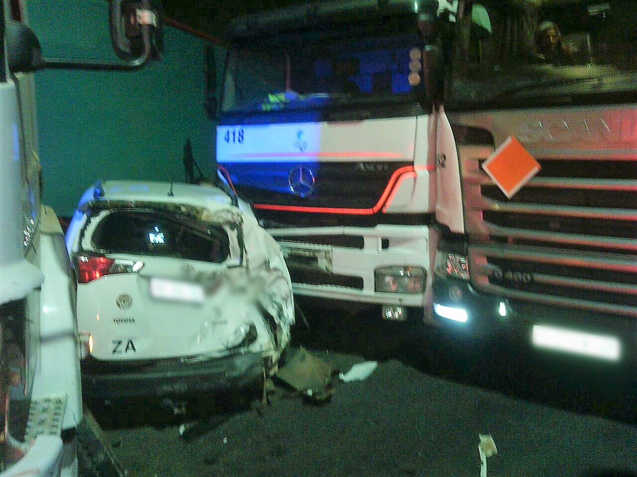 3 Injured in pile- up on the M7 East Bound at the N2 interchange