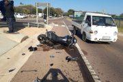 Biker left critical after collision north of Johannesburg