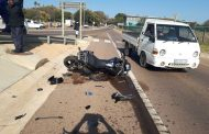Biker left critical after collision north of Johannesburg