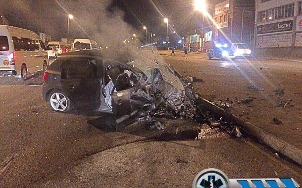Horrific crash on Chris Hani (North Coast) Road