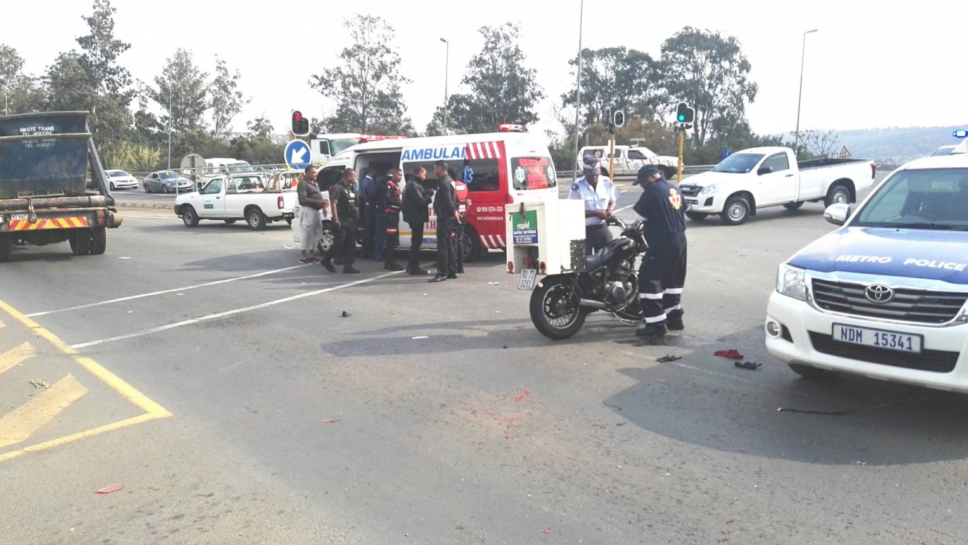 Biker Injured In Collision in Ottawa, KZN