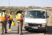 Women in traffic law enforcement stage traffic blitz in Ulundi.