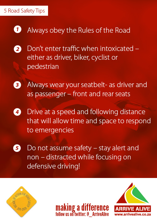 Safety tips for while you're out on the road