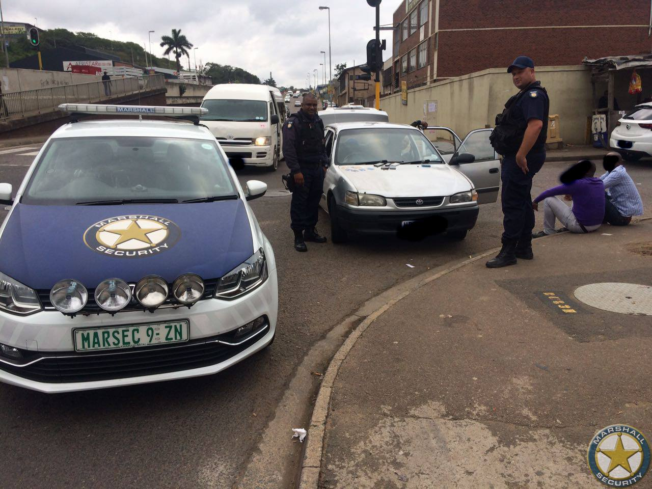 Fraud suspects arrested at the intersection of Chris Hani and Krishna Roads.
