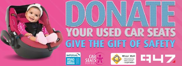 Imperial Road Safety and 94.7 Breakfast Team to drive Car Seats for Kids Campaign during Transport Month