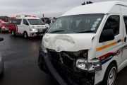 New Germany man knocked down as two taxis collide