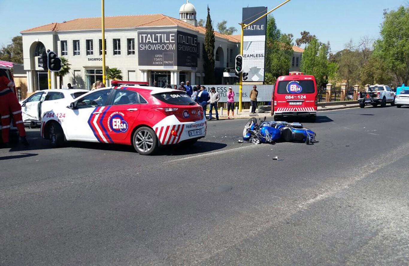 Motorbike rider dies in collision in Bryanston
