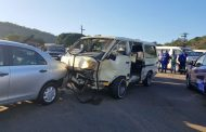 Four people injured after a taxi and a car collided in Pinetown