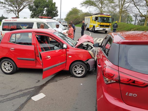 Four people have been injured following a collision on University Road near Westwood Mall
