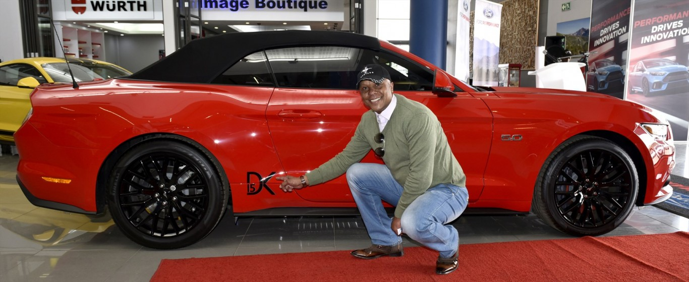 Soccer Legend Doc Khumalo Takes Reins of Mustang as Ford Brand Ambassador