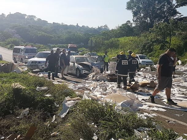 3 Injured in multi-vehicle pile-up on the M7, Pinetown