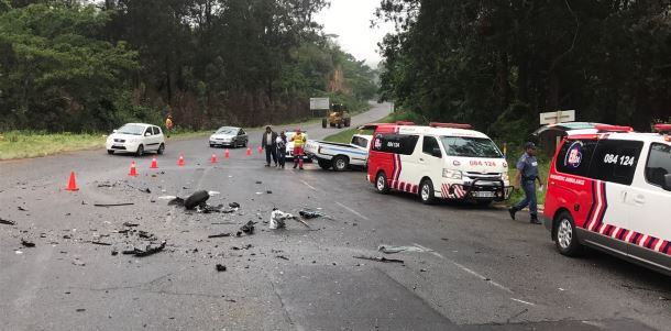 Four people injured during a collision on Cato Ridge