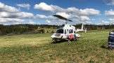 Runner airlifted after collapsing in a field