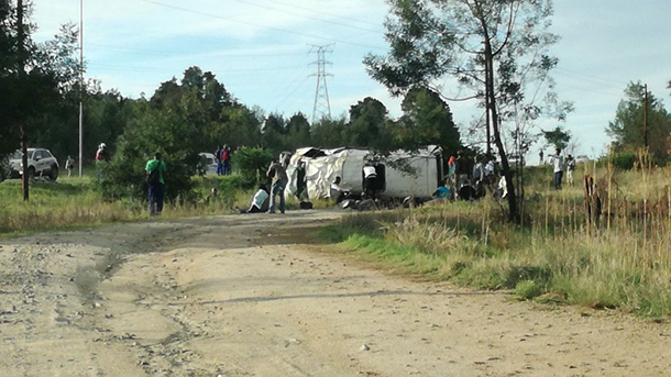 Walkerville taxi rollover leaves one dead and seventeen injured