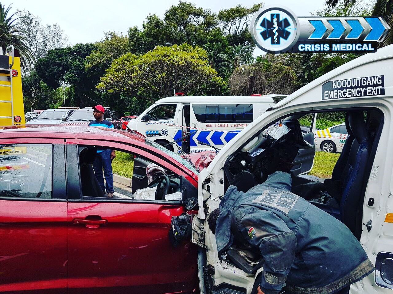 Early morning collision on the M4 Ruth First Highway.