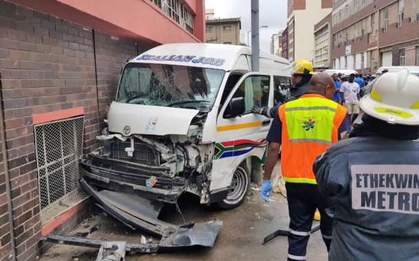 Taxi crash leaves driver entrapped on McArthur Street in Durban