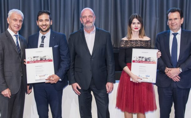 VWSA trainee, amongst 46 worldwide to be honoured by Volkswagen Group