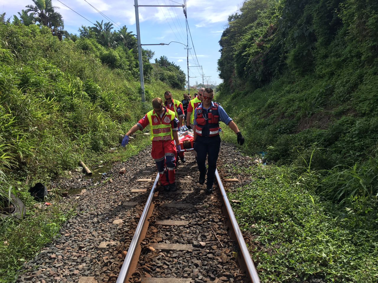 Woman injured after being hit by train close to the Winklespruit train station in Amanzimtoti