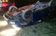 Vehicle Overturns After Losing Back Wheel at Phoenix, KZN