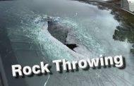Rock throwing incedents in North Coast