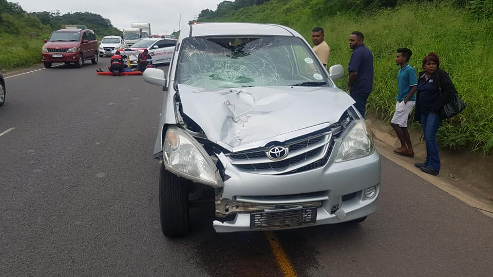 Pedestrian killed in crash on the R102 between the Verulam and Ottawa intersection