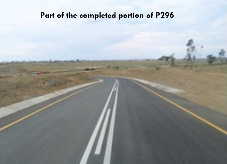 The upgrade of Main Road P296 will link the townships of Jokisi and Tayside