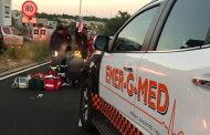 Pedestrian injured in collision on Grosvenor road, Johannesburg
