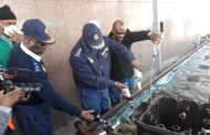 Gauteng Provincial Commissioner destroys confiscated liquor.