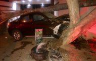 Fortunate escape from injury in crash in Bryanston